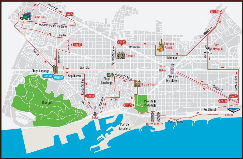 praça de espanha mapa Os bastidores da Maratona de Barcelona | Correr pelo Mundo praça de espanha mapa