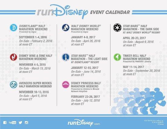 Disney anuncia calendário de provas 2016/2017 | Correr pelo Mundo