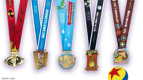 As medalhas da Disneyland Half Marathon Weekend 2017